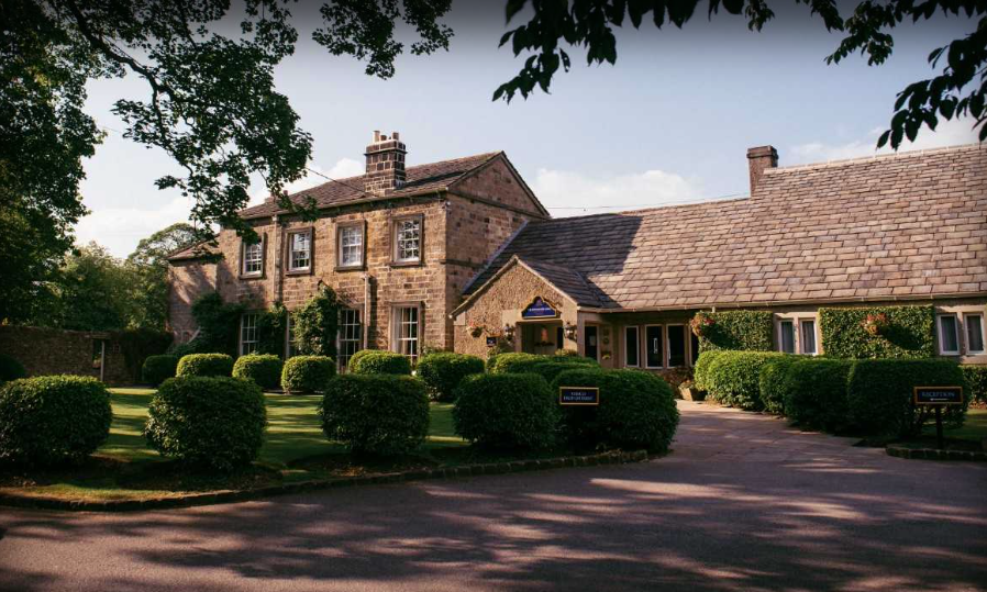 The front view of The Devonshire Arms in the Yorkshire dales