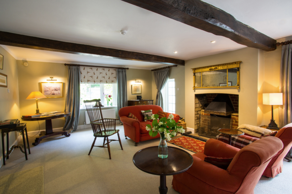 The cosy snug at Gorselands Hall in Oxfordshire
