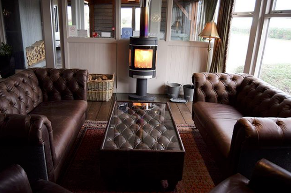 The lounge area at the Briarfields Hotel in Norfolk
