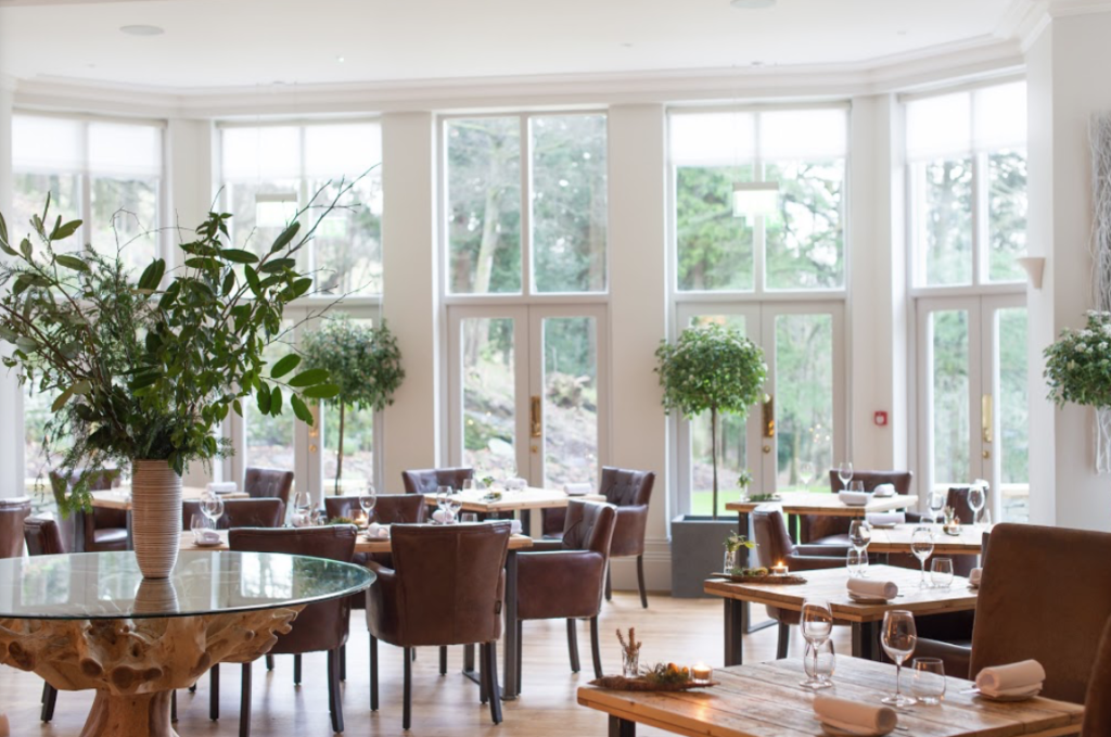 The award winning restaurant at The Forest Side hotel in Cumbria